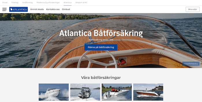 atlantica båtförsäkring hemsida