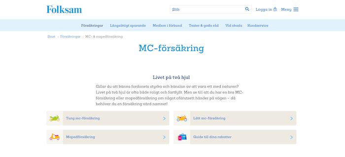 folksam mc-försäkring hemsida