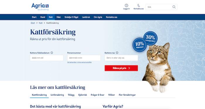 agria djurförsäkring hemsida