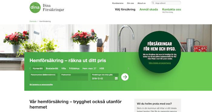 dina hemförsäkring hemsida
