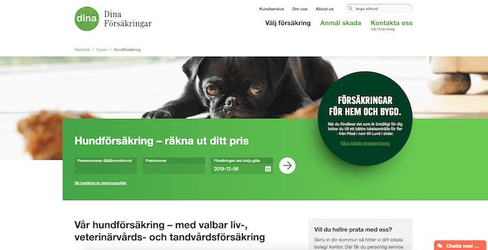 dina försäkringar hundförsäkring hemsida