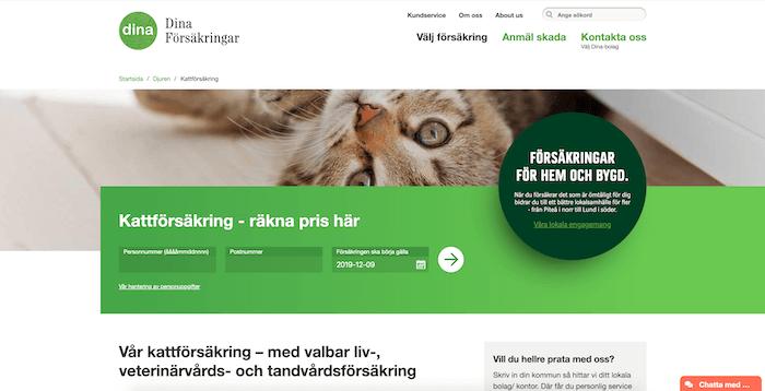 dina hemsida för kattförsäkring
