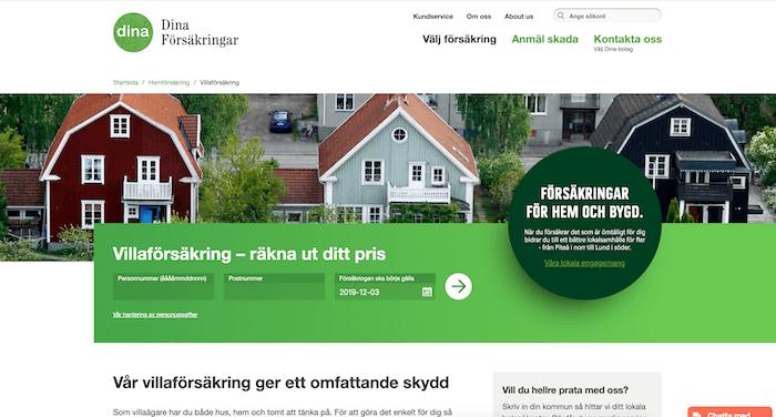 dina villaförsäkring hemsida