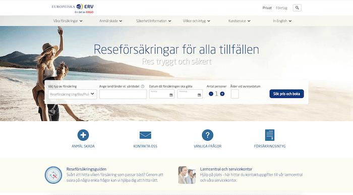 erv reseförsäkring hemsida
