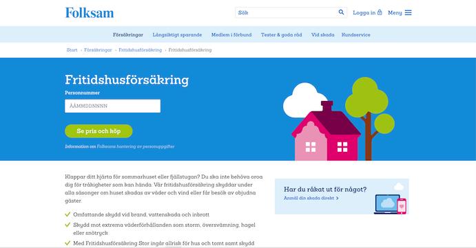 folksam fritidshusförsäkring hemsida