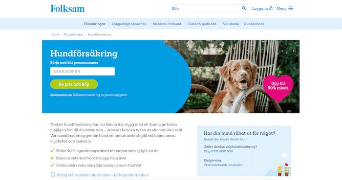 folksam hundförsäkring hemsida