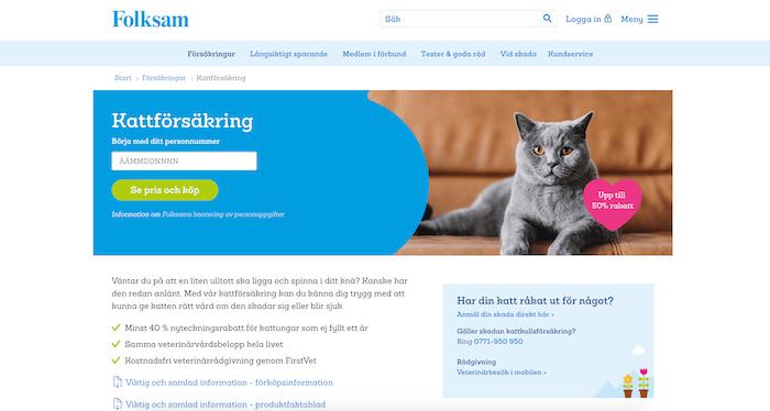 folksam hemsida för kattförsäkring