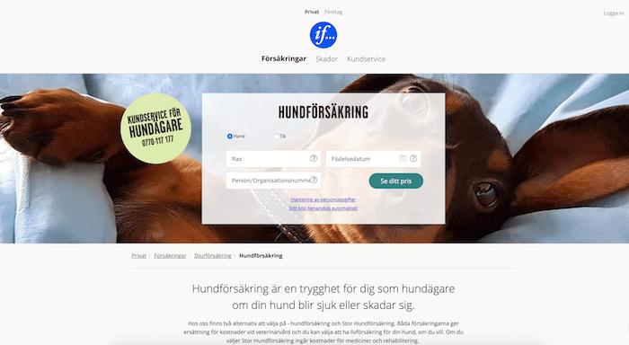 if hundförsäkring hemsida