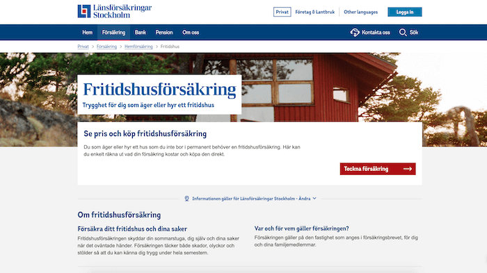 länsförsäkringar fritidshusförsäkring hemsida