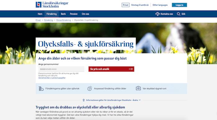länsförsäkringar olycksfallsförsäkring hemsida