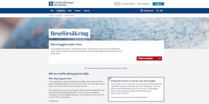länsförsäkringar reseförsäkring hemsida