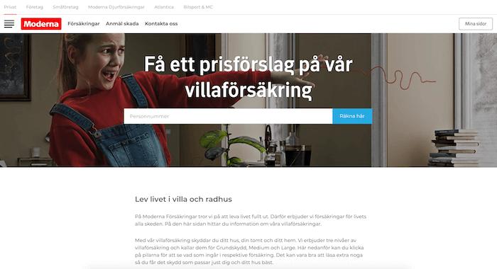 moderna villaförsäkring hemsida