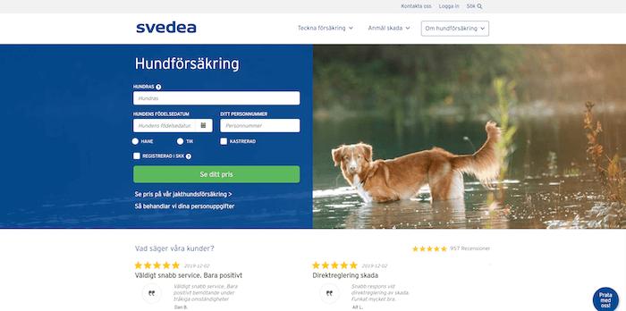 svedea hundförsäkring hemsida