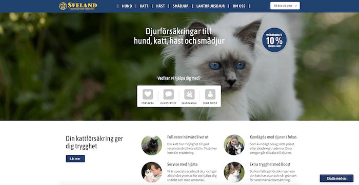 sveland kattförsäkring hemsida